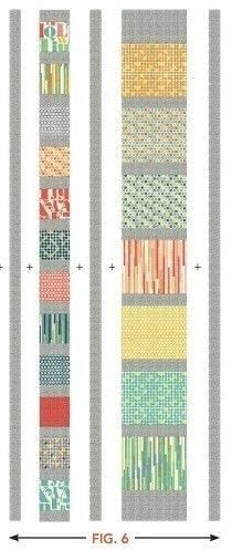 How to make a patchwork quilt. Stop The Presses Quilt Pattern By Modkid - Step 7