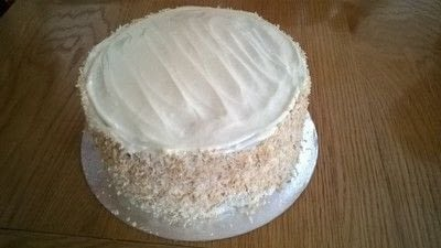 How to bake a coconut cake. Toasted Coconut Cake. - Step 12