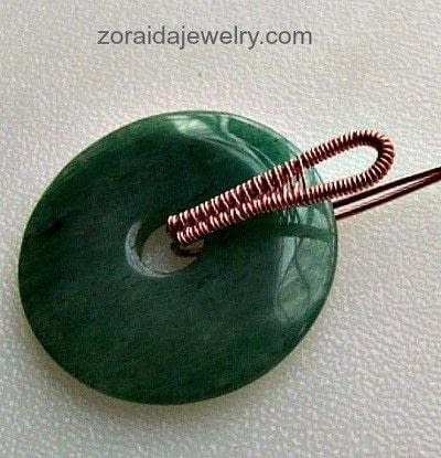 How to make a pendant necklace. How To Dress Up A Donut With A Wireweave Bail - Step 7
