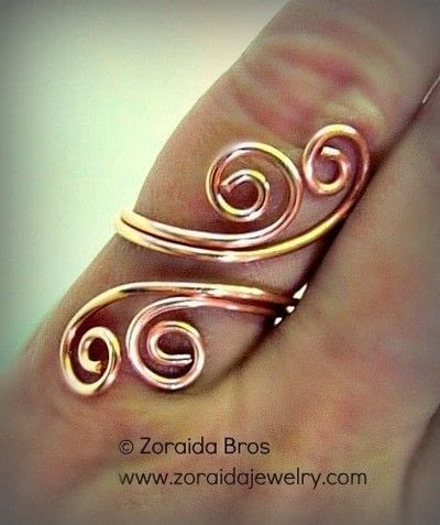 How to make a wire swirl ring. Easy Adjustable Spiral Ring Tutorial - Step 12