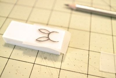 How to make a stamper. DIY Rubber Stamps - Step 2