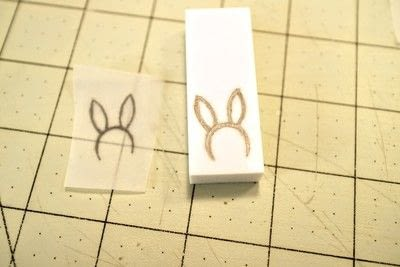 How to make a stamper. DIY Rubber Stamps - Step 3