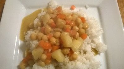 How to cook a curry. Chickpea & Vegetable Curry - Step 7