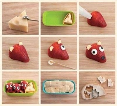 How to make a bento box. Cat And Mouse Bento - Step 1