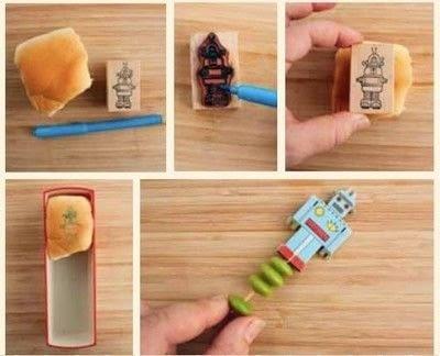 How to make a bento box. Robot Bento Box - Step 5