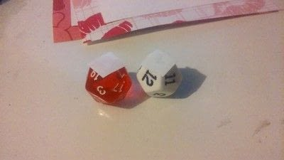 How to make a card. Geeky Dice Valentines - Step 5