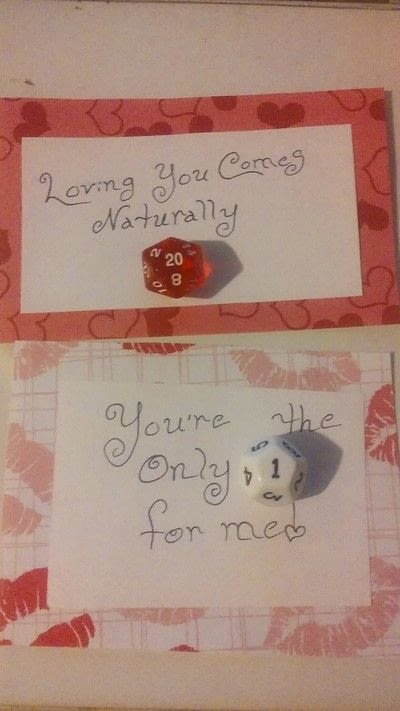 How to make a card. Geeky Dice Valentines - Step 6