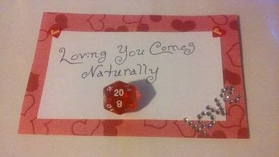 How to make a card. Geeky Dice Valentines - Step 7