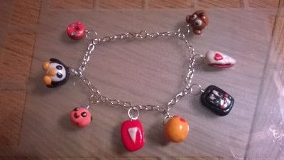 How to sculpt a clay character bracelet. Clay Charm Bracelet & earings  - Step 6