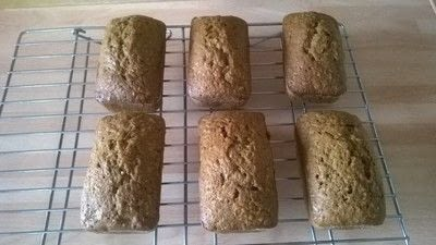 How to bake a carrot cake. Carrot & Coconut Loaves - Step 6