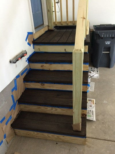 How to make furniture. Painted Stair Makeover - Step 3