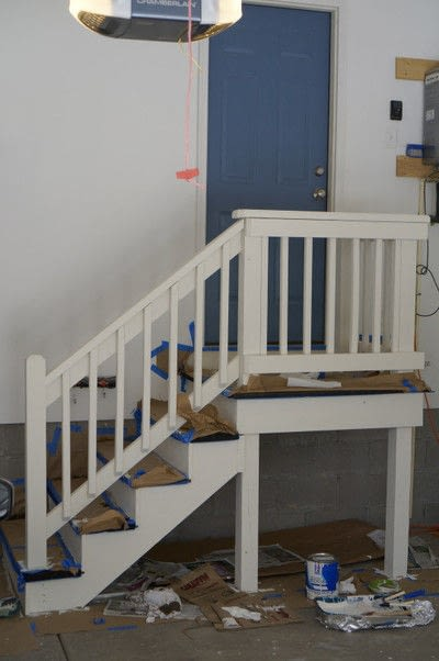 How to make furniture. Painted Stair Makeover - Step 5