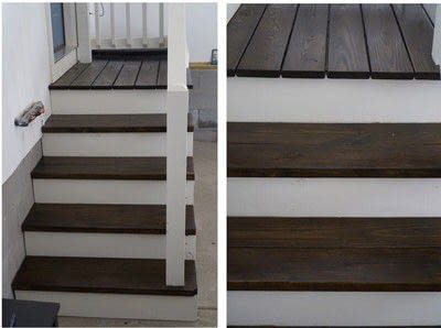 How to make furniture. Painted Stair Makeover - Step 6