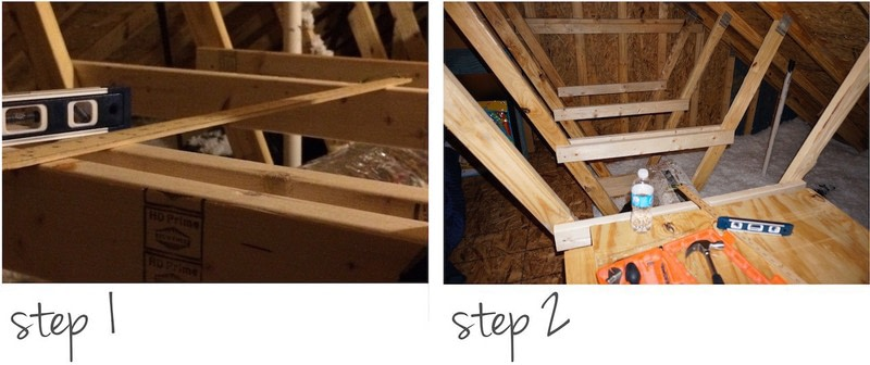 How To Make A Shelf Diy Storage Shelves In The Attic Step 1