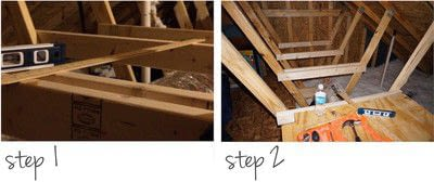 How to make a shelf. Diy Storage Shelves In The Attic - Step 1