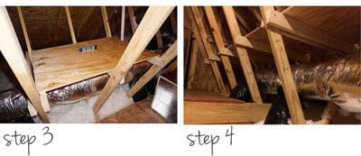 How to make a shelf. Diy Storage Shelves In The Attic - Step 3