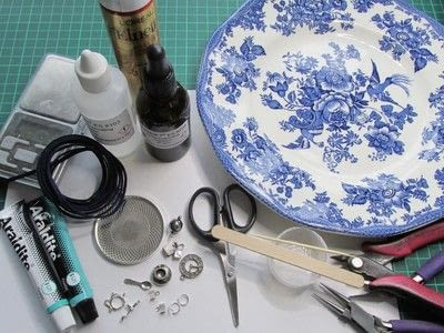 How to make a pendant necklace. Time For Tea - Step 1