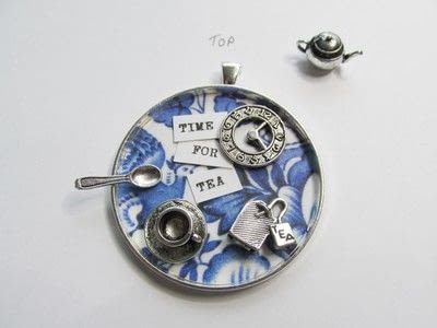How to make a pendant necklace. Time For Tea - Step 5