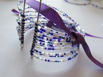 How to bead a woven bead bracelet. Woven Willow Pattern - Step 6