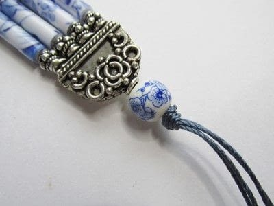 How to make a paper bead necklace. Temple Tassel - Step 5