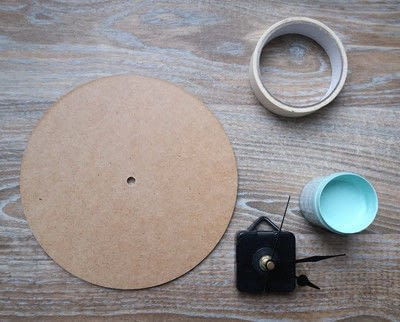 How to make a clock. Color Block Wall Clock - Step 1