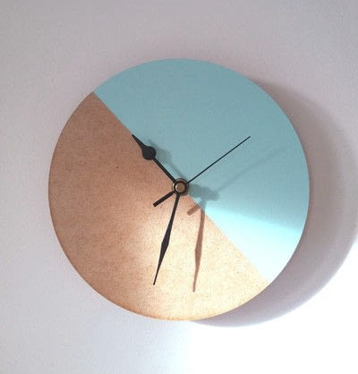 How to make a clock. Color Block Wall Clock - Step 4