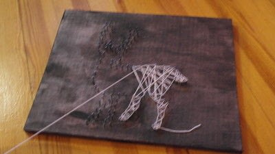 How to make string art. String Art  - Step 4