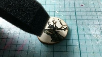How to make a wood pendant. Into the Woods Pendant  - Step 8