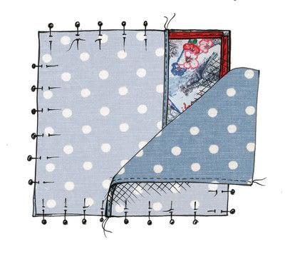 How to make a stitched cushion. Cath Kidston Brighton Cushion - Step 7