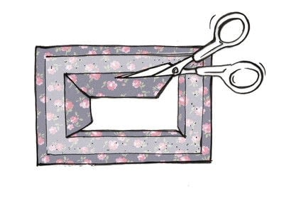 How to make a luggage tag. Cath Kidston Luggage Tag - Step 3