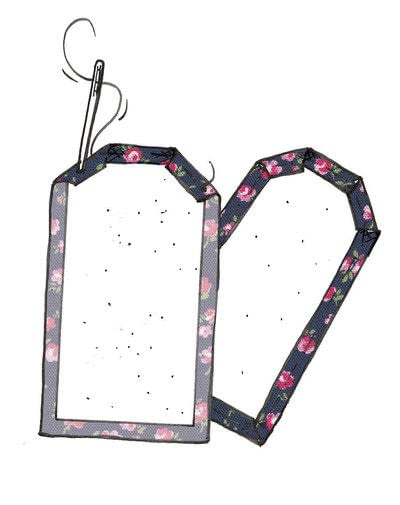 How to make a luggage tag. Cath Kidston Luggage Tag - Step 5