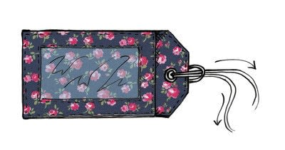 How to make a luggage tag. Cath Kidston Luggage Tag - Step 8