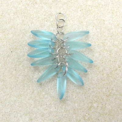 How to make a dangle earring. Dangling Cluster Earrings - Step 6