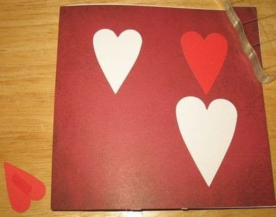 How to make a pop up card. Finishing Your Fluttering Heart Pop Up Card - Step 4