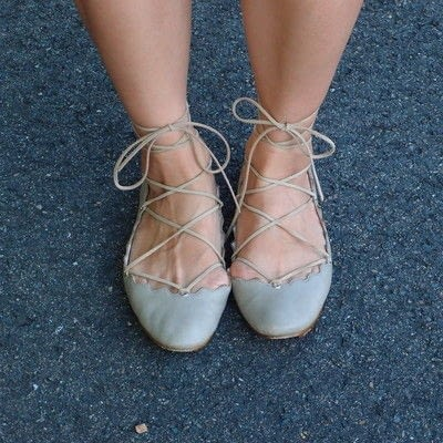 How to revamp a pair of lace-up shoes. Lace Up Flats - Step 6