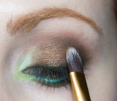 How to create a two toned eye makeup look. Mother Earth Look - Step 9