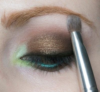 How to create a two toned eye makeup look. Mother Earth Look - Step 11