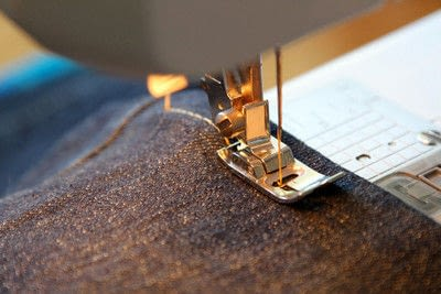 How to hem . Hem Your Own Jeans - Step 8