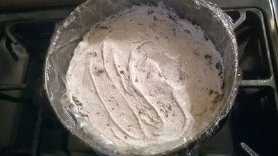 How to bake an ice cream cake. Crispy Ice Cream Cake  - Step 3