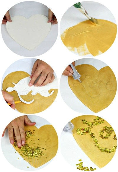 How to sew an applique cushion. Valentine's Day Pillows - Step 7