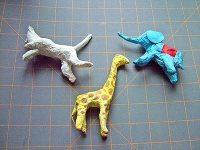 How to make a papier mache model. Easy Paper Mache Circus Animals - Step 6