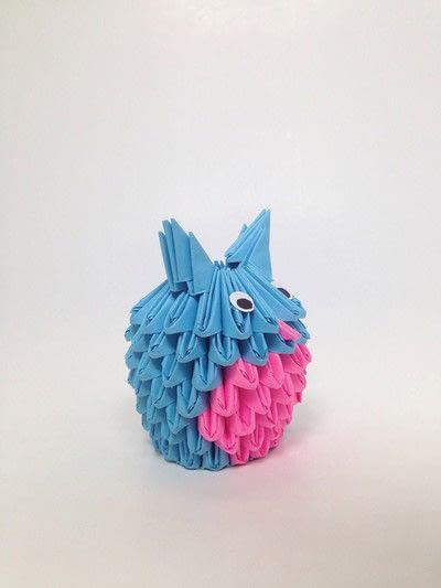 How to fold an origami bird. 3 D Origami Owl - Step 5