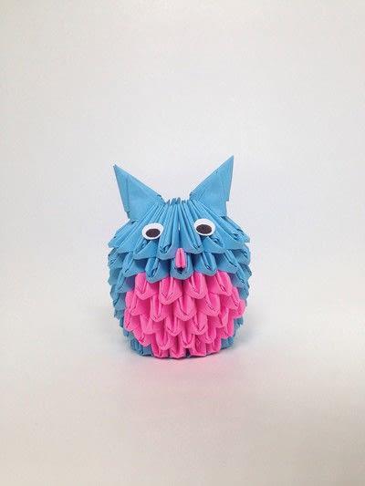 How to fold an origami bird. 3 D Origami Owl - Step 6