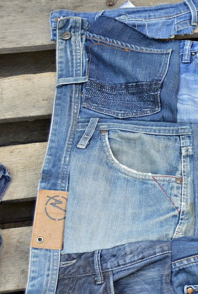 How to make a wall tidy storage unit. Upcycled Denim Pocket Organiser - Step 3
