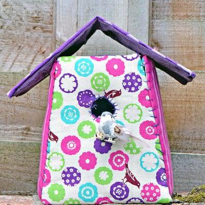 How to make a bird house. Fabric Birdhouse - Step 5