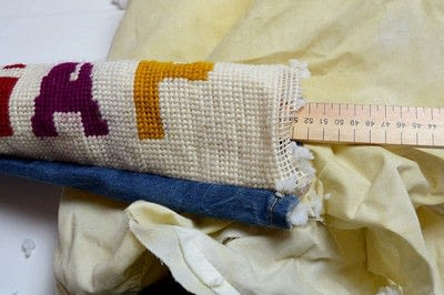 How to make a draft stopper. Funky Diy Draught Excluder - Step 5