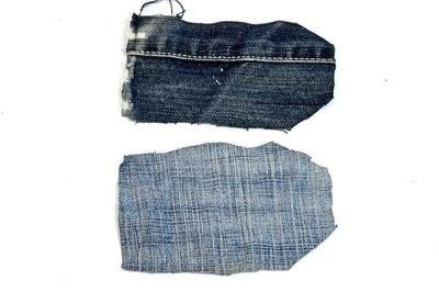 How to make a gift tag. Denim Gift Tag - Step 2