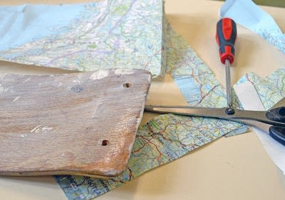 How to make a chair. How To Make Personalised Map Chairs - Step 2