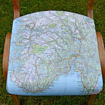 How to make a chair. How To Make Personalised Map Chairs - Step 5