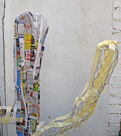 How to make a papier mache model. Giant Paper Mache Cactus - Step 3